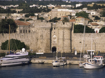 Walls of Old Town from Harbour ...