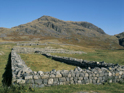 Hardknott Roman Fort, Cumbria, England, United Kingdom