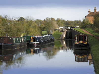 Top Lock, the Tardebigge Flight of Locks, Worcester and Birmingham Canal, Worcestershire