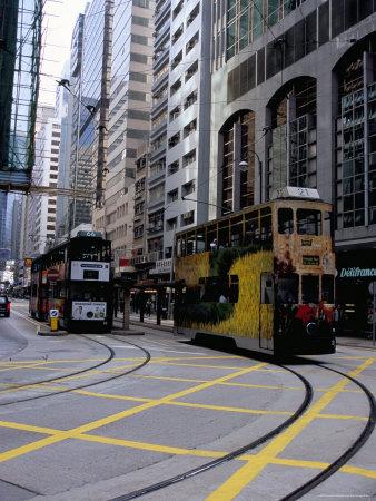 Tram, Sheung Wan, Hong Kong Island ...