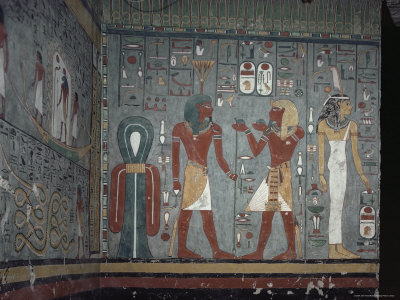 Interior, Tomb of Ramses I, Valley of the Kings, Thebes, Unesco World Heritage Site, Egypt