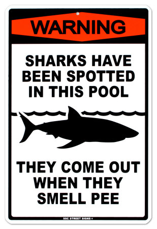 Sharks In The Pool Posters