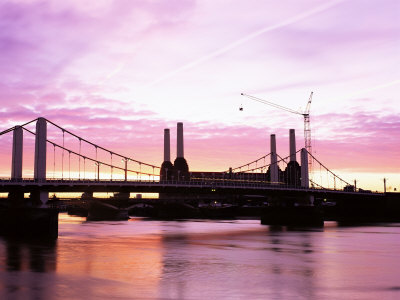 Dawn Over Battersea Power Station and Thames by Nick Wood