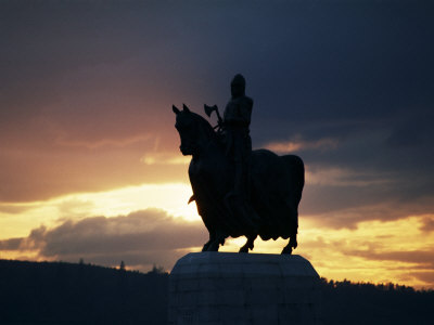Statue of Robert Bruce, Bannockburn, Stirlingshire, Scotland, United Kingdom