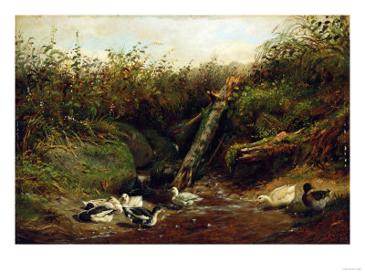 Ducks at a Brook, 1872 Giclee Print