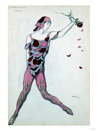 Le Spectre De La Rose, Design for Njinksky's Costume, 1911