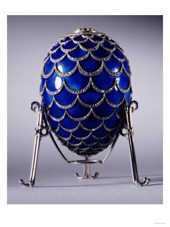 The Pine Cone Egg in Its Stand, Faberge, Workmaster Michael Perchin, 1900