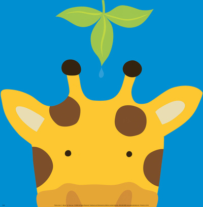 Peek-a-Boo VII, Giraffe Art Print