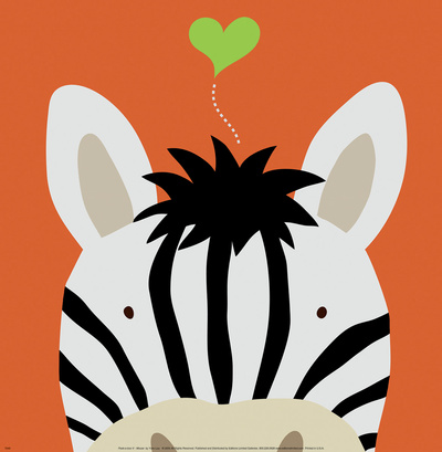 Peek-a-Boo XII, Zebra Art Print