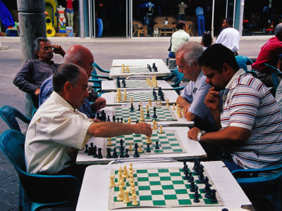 Chess Players at Boulevard de Sabana Grande, Caracas, Distrito Federal, Venezuela