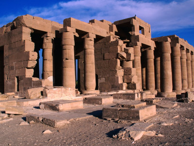 Great Hypostle Hall at the Ramesseum Built by Ramses II, Luxor, Egypt
