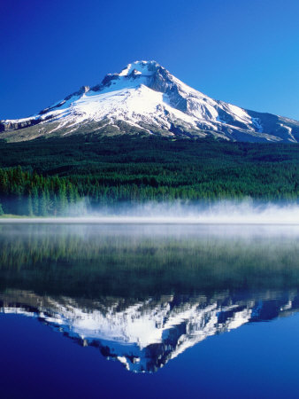 Trilium Lake with Mt. Hood in ...