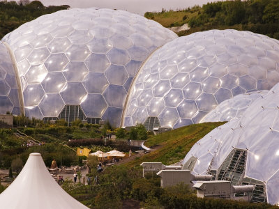The Three Biomes of the Eden Project, St. Austell, Cornwall, England