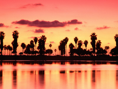 Mission Bay at Sunset, San Diego ...