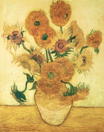 Vase of Fifteen Sunflowers, c.1888 Art Print