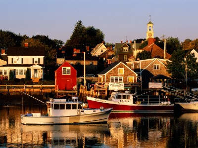 South End, Harbor and Houses, Portsmouth, New Hampshire