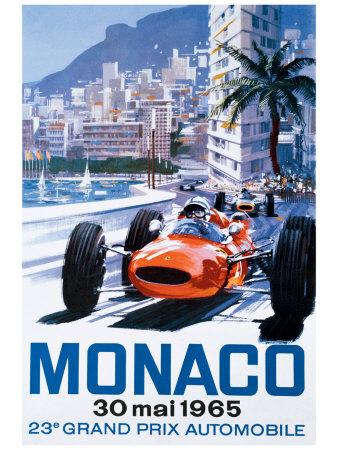 Grand Prix Monaco, 30 Mai 1965 Sports Giclee Print
