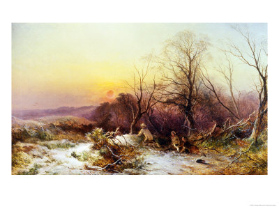 The Thames Frozen, Evening, Sonning, c.1852