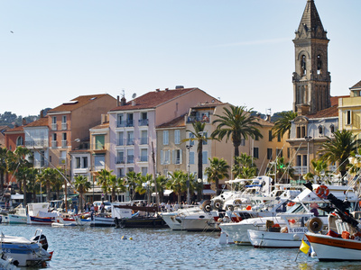 View of Harbour with Fishing and Leisure Boats, Sanary, Var, Cote d