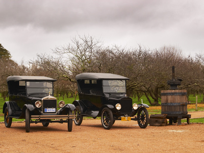 Collection of Vintage Cars, T Fords, Bodega Bouza Winery, Canelones, Montevideo, Uruguay