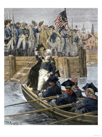 General George Washington Leaving New York City after Celebrating the British Retreat, c.1783