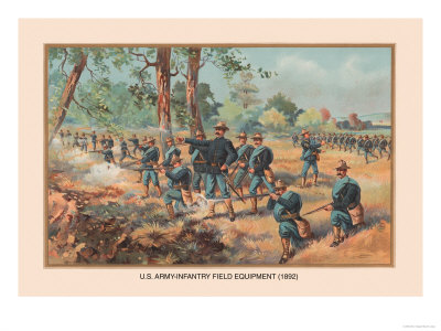 Infantry Field Equipment, 1892 Premium Poster