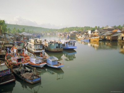 Fishing Trawlers in the Harbour, Phu Quoc Island in South West of the Country, Vietnam