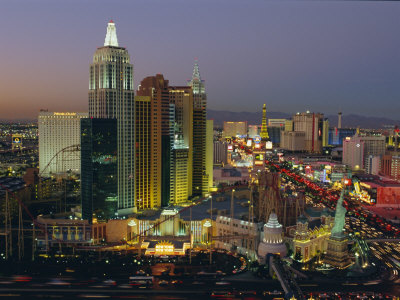 New York, New York Hotel and Casino and the Strip, Las Vegas, Nevada, USA