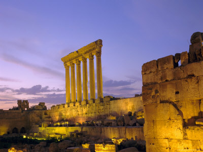 The Temple of Jupiter, Baalbek ...