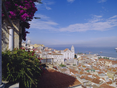 Alfama and Rio Tejo (Tagus River) ...