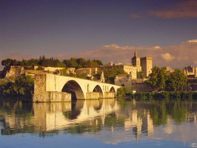 River Rhone, Bridge and Papal ...