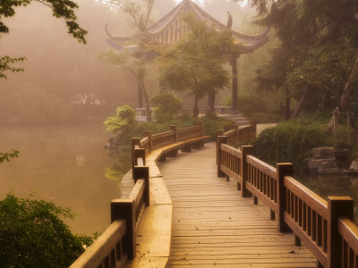 Footpath and Pavillon, West Lake, Hangzhou, Zhejiang Province, China, Asia Posters