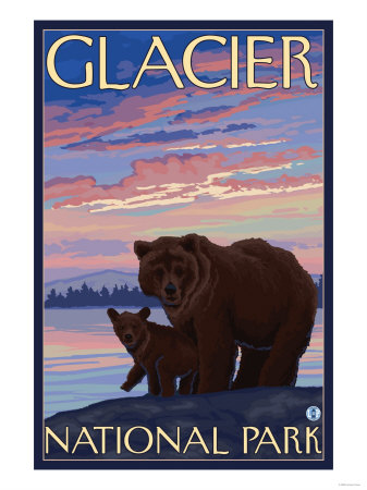 Bear and Cub, Glacier National ...