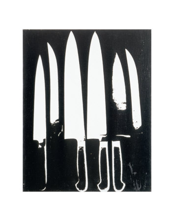Knives, c.1981 (black and white)