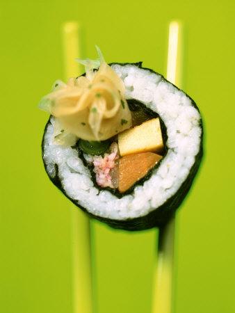 Maki-Sushi with Crabmeat, Scrambled ...