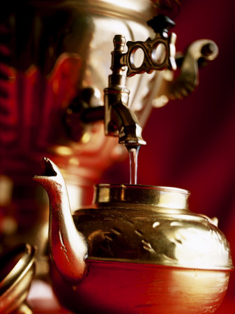 Water Running out of Samovar into a Pot