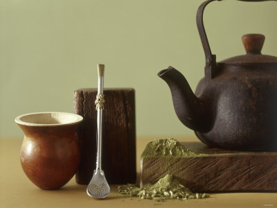 Utensils for Chimarrao: Silver Straw, Infusing Bowl