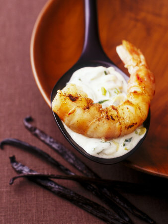 King Prawn in Coconut Sauce with Vanilla and Cardamom
