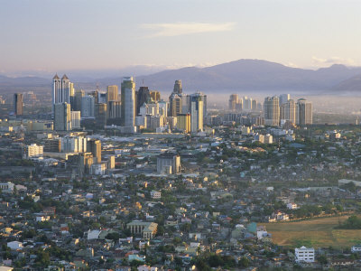 Pasig City Business Area Skyline, Manila, Philippines