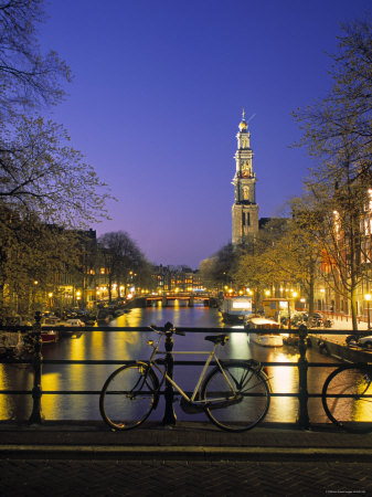 Prinsengracht and Wsterkerk, Amsterdam, Holland
