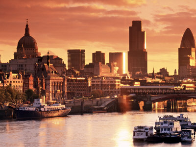 London and River Thames, England