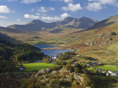 View to Llynnau Mymbyr and Mt Snowdon, North Wales