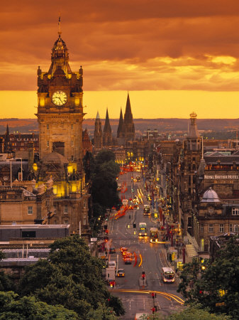 Princes St., Calton Hill, Edinburgh, Scotland
