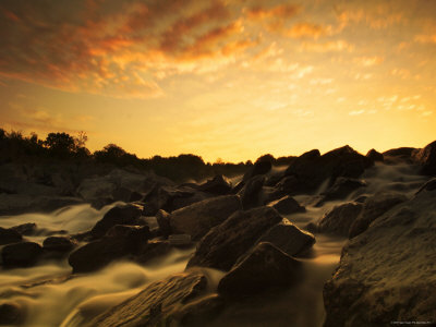 Water Flowing over Rocky Riverbed