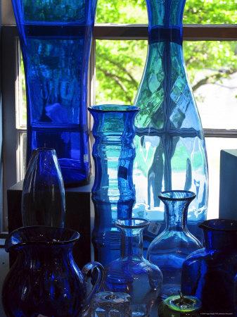 Shaker Blue Glass