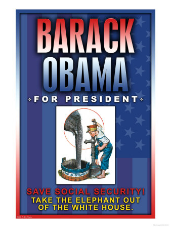 Barack Obama, Save Social Security Premium Poster