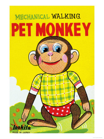Mechanical Walking Pet Monkey Posters