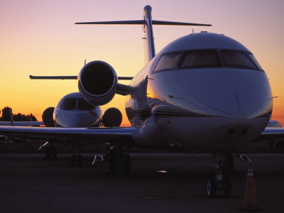 Business Jet Aircraft Parked at Airport