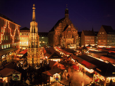 Christmas Fair at Night, Nurnberg, Germany