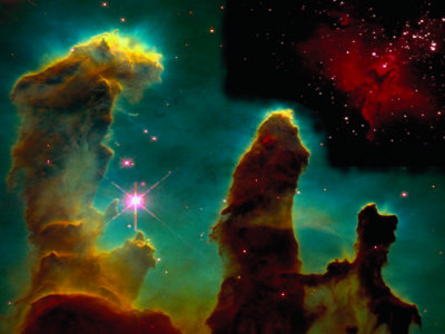Eagle Nebula, Taken from Hubble Telescope
